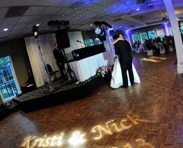 Monogram/GOBO Projector and Up-Lighting - Photo by Erin Hession Photography